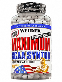 BCAA в капсулах Maximum BCAA Syntho (240 кап)