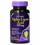 Антиоксиданты Alpha Lipoic Acid 100 mg (60 кап)
