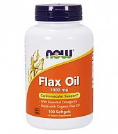 Льняное масло Flax Oil 1000 mg (100 кап)