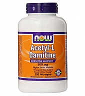 L-карнитин Acetyl L-Carnitine 500 mg (180 кап)