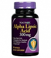 Антиоксиданты Alpha Lipoic Acid 300 mg (50 кап)